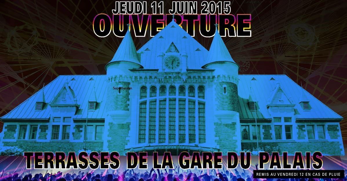 Une 25e soirée enlevante pour l'ouverture des terrasses  de la Gare du Palais!