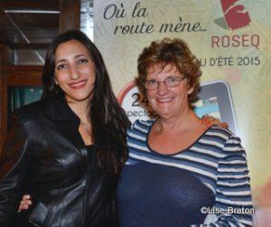 Florence K et Solange Morissette pour faire la promotion de la ROSEQ