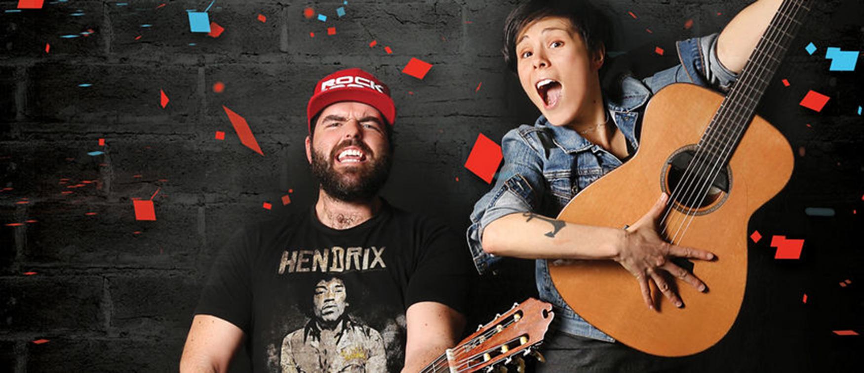 Pascale Picard & Pépé et sa guitare © photo: courtoisie