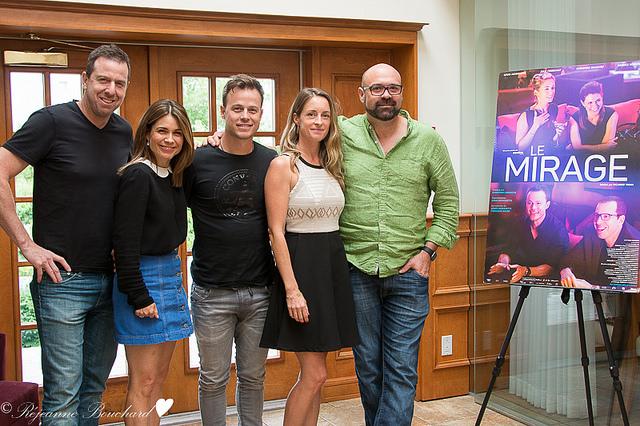 Patrice Robitaille, Julie Perreault, Louis Morissette, Christine Beaulieu, Ricardo Trogi pour le film Le Mirage
