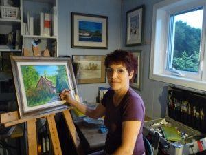 Marie-France Boivin dans son atelier