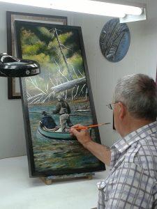 Paul-René Duchesne au travail