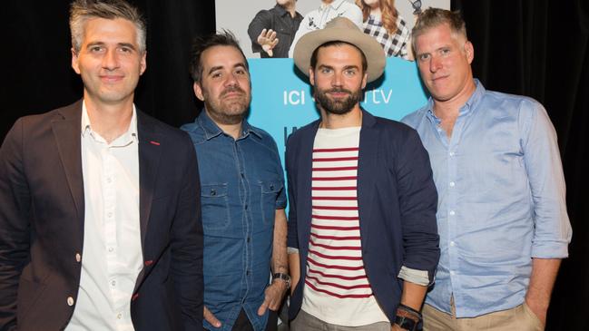 Jean-Philippe Wauthier, Fred Savard, Jean-Sébastien Girard et Olivier Niquet  © photo: courtoisie de Radio-Canada