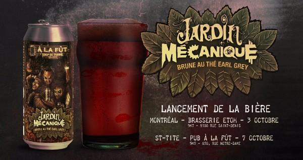 La microbrasserie À la fût lance une bière à l'effigie de Jardin Mécanique