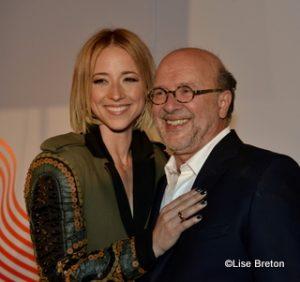 Karine Vanasse et le réalisateur François Bouvier