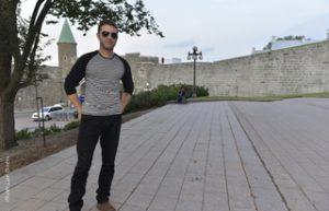 Patrick Lehman dans le Vieux-Québec