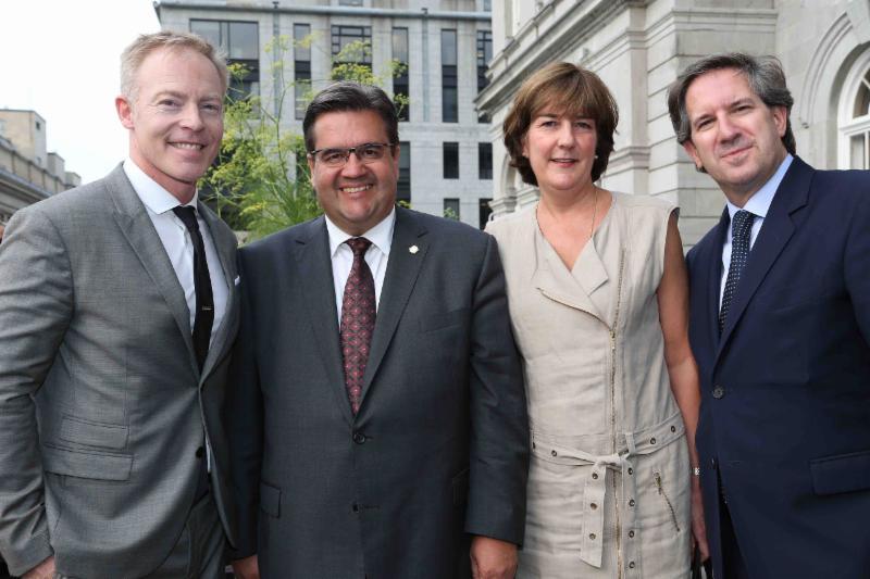 Richard Speer,  Denis Coderre, Patrice Lachance et Mario Cecchini / crédit photo: Jean-Guy Thibodeau
