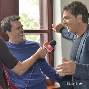 Patrick Hivon et Jean-François Pichette (2 frères dans l'émission)