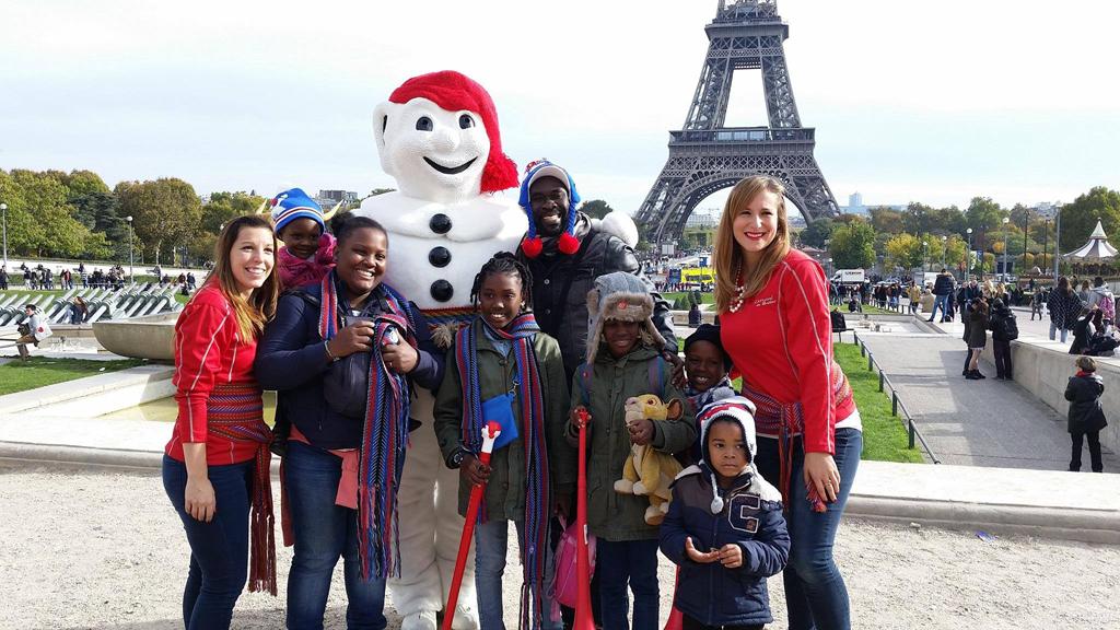 Les Duchesses du Carnaval et Bonhomme à Paris © photo: courtoisie