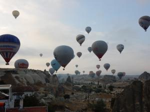 Les montgolfières dans les Cappadoces