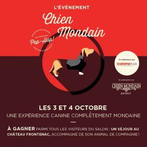 Événement Chien Mondain à Laurier Québec les 3 et 4 octobre