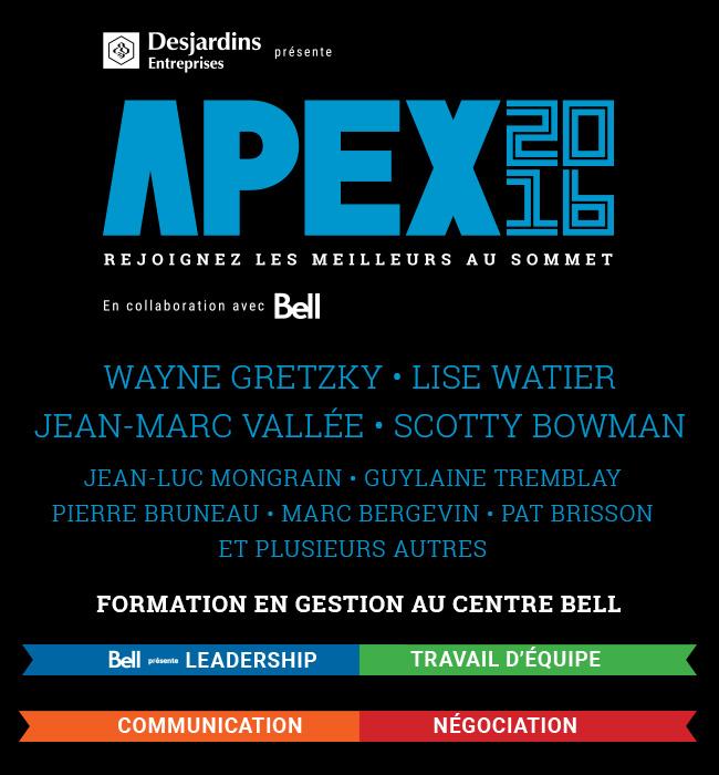APEX 2016 - Formation en gestion le 24 février 2016