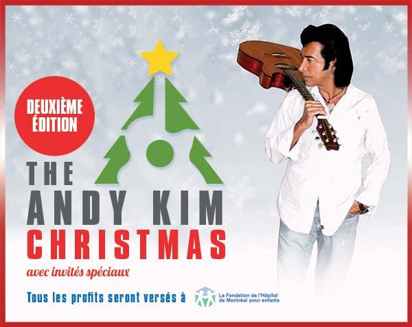 Andy Kim, spectacle de Noël