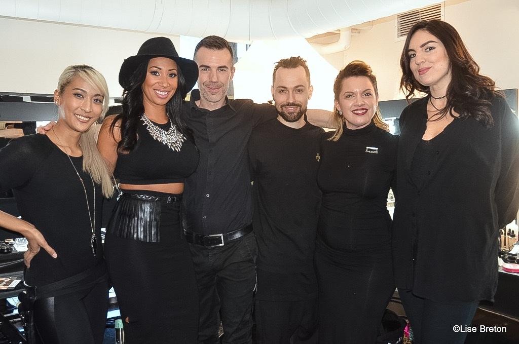 Les maquilleurs professionnels:Marie-Chinda, Aleisha, Fred, Alexandre Deslauriers, Roxane, Chloé