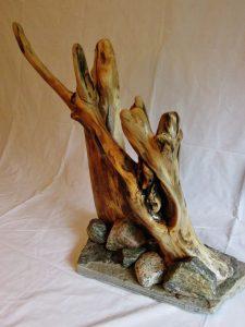 Sculpture en bois de grève