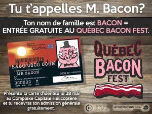 Affiche officielle du QUÉBEC BACON FEST