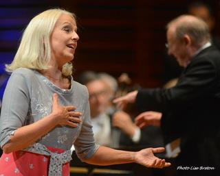 La mezzo-soprano Anne Sofie von Otter