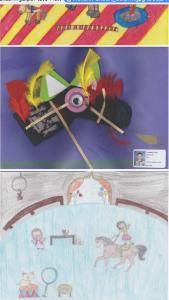 Les trois dessins gagnants:Mélann Gilbert, Loïc Tremblay, Pénélope Tremblay   :