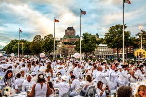 Le Dîner en Blanc de Québec 2015 Crédit : Marc-Éric Baillargeon
