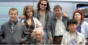 La famile Bougon comprend notamment Rémy Girard, Louison Danis, Antoine Bertrand et Hélène Bourgeois-Leclerc.© Photo Radio-Canada
