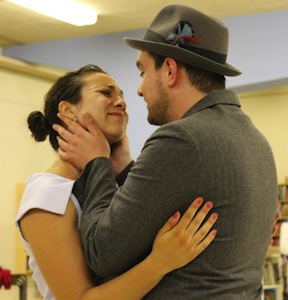 En répétition: Camila Fitzgibbon (Rosie) et Daniel Wilkenfeld (Albert)