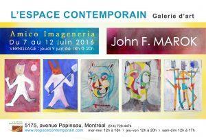 L'espace contemporain de Montréal présente John F. MAROK