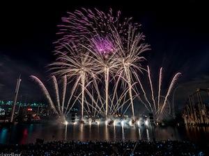 Le feu de l'Espagne, gagnant du Jupiter d'Or 2016 de l'International des Feux Loto-Québec