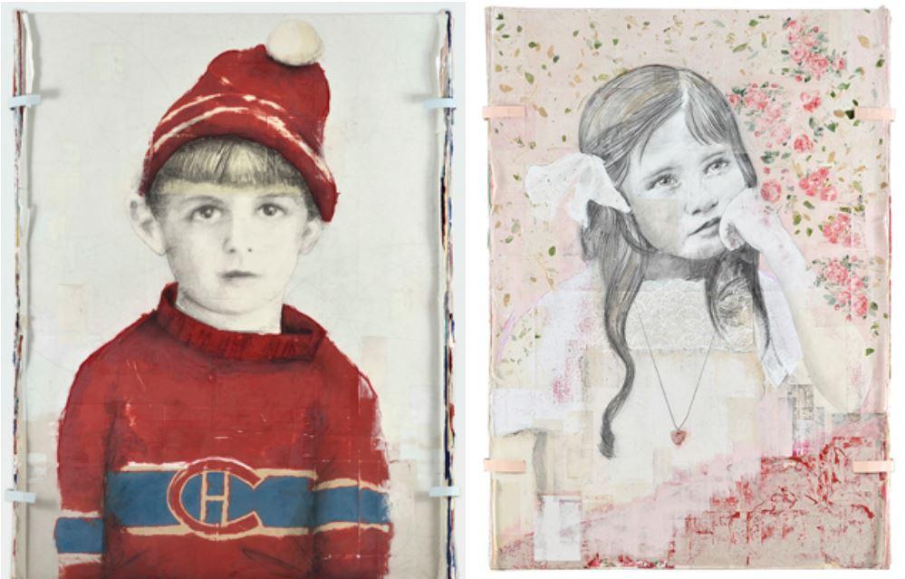 Deux œuvres de l'exposition Destinée.