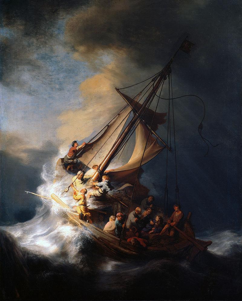 Le Christ dans la tempête sur la mer de Galilée de Rembrandt