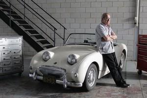 Une des autos électriques avec Sergio Hernandez