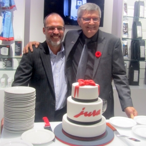Patrick Mamelonet (propriétaire du Québec) et Stéphane Babos le propriétaire à Limoilou