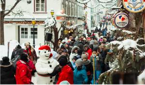 le Carnaval de Québec dans le Quartier Petit Champlain