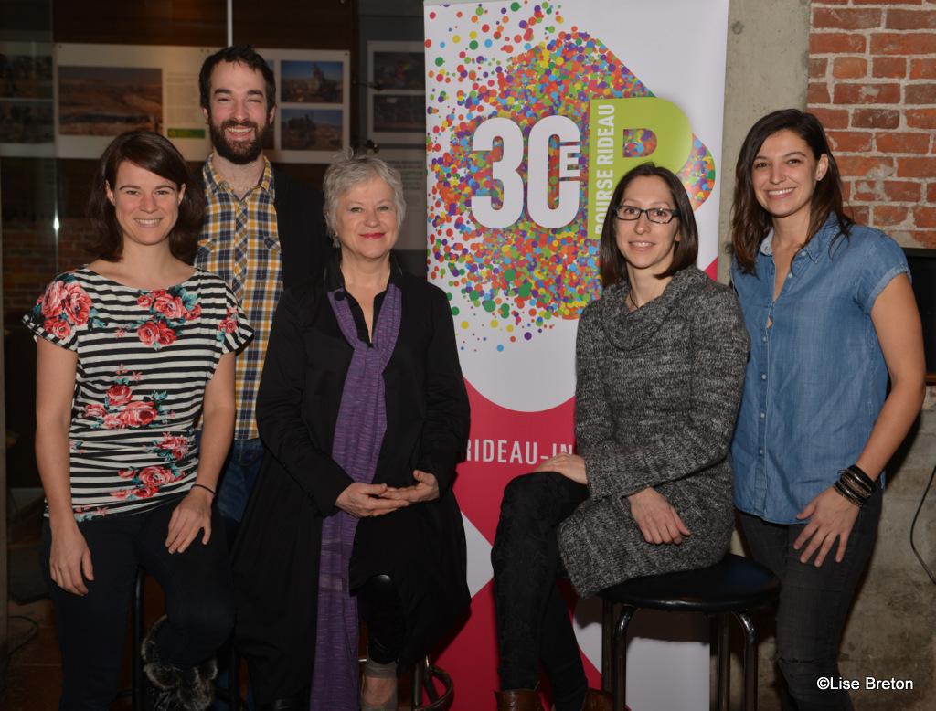 Artistes représentants le Théâtre, le cique et la chanson en compagnie de Mme Colette Brouillé pour RIDEAU 2017 @Lise Breton