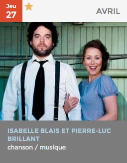 Isabelle Blais et Pierre-Luc Brillant