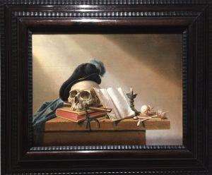 """""""Vanité"""" de l'artiste Harmen van Steenwyck, une huile sur bois réalisée entre 1630 et 1656"""