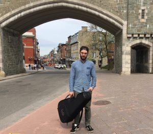 Mat Vezio dans le Vieux-Québec
