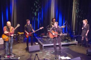Le groupe de musiciens au Théâtre Petit Champlain