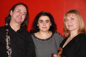 Natalia Kononova, violon, Denis Doucet, clarinette, Achkhen Minasyan, piano