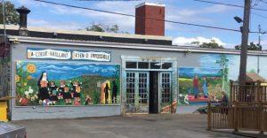 La fresque du Jardin des Ursulines, Roberval (Québec)