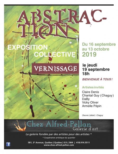 Abstraction, exposition du 16 septembre au 13 octobre