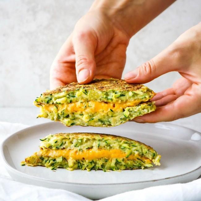 Grilled cheese au zucchini