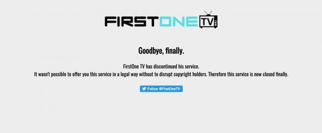 FirstOne TV ferme ses portes