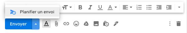 planifier un envoi gmail