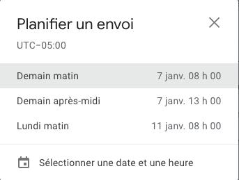 programmer un envoi gmail