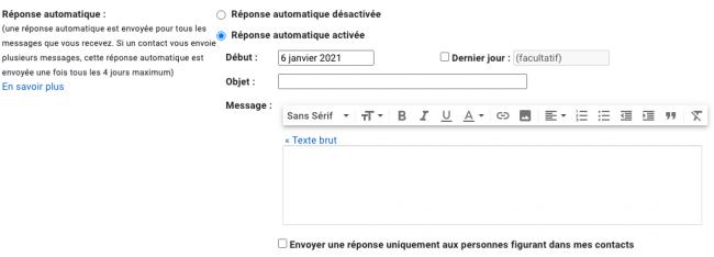 réponse automatique gmail