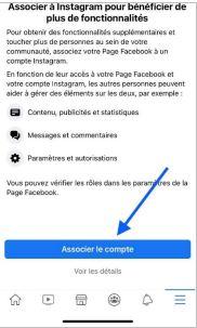 associer facebook et instagram