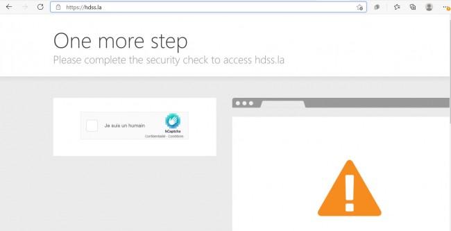 Page d'accueil CAPTCHA HDSS