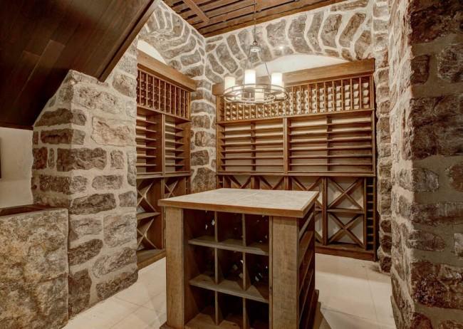 Cellier maison de Jacques Villeneuve