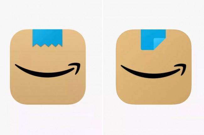 Comparaison logo Amazon